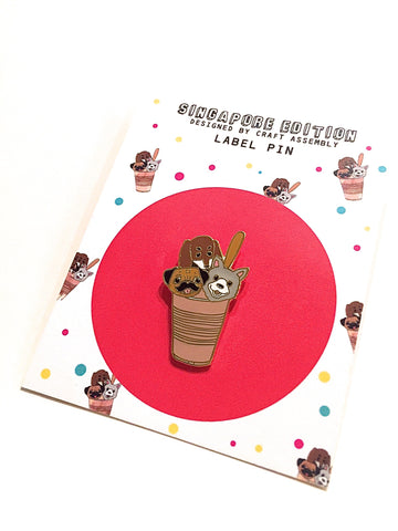 Singapore Themed Label Pin - Singapore $1 Street Ice-Cream
