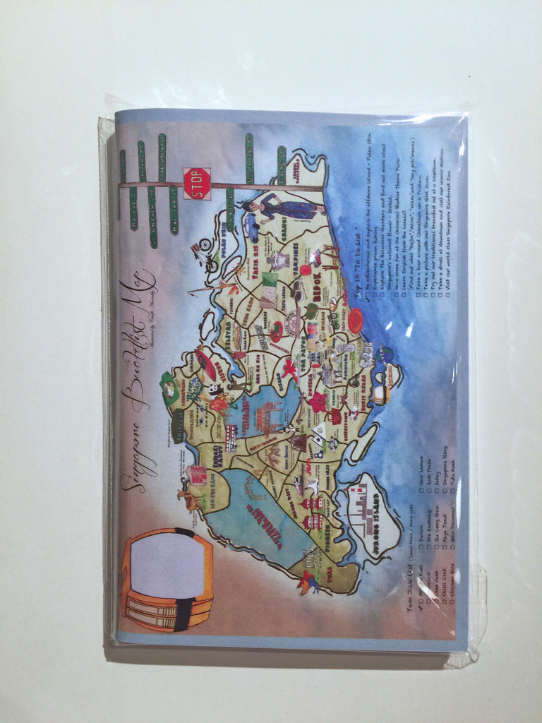 Singapore Bucketlist Map A6 Notebook