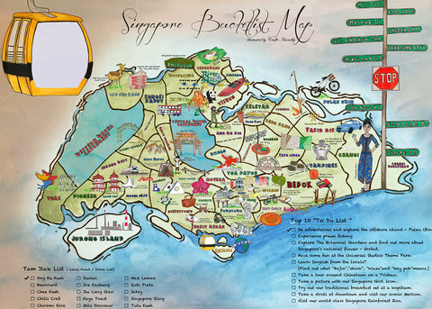Singapore Bucketlist Map