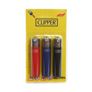 12 x 3 Blister Pack Clipper Large Solid Lighters - CL116UKH - CBD VAPE 1