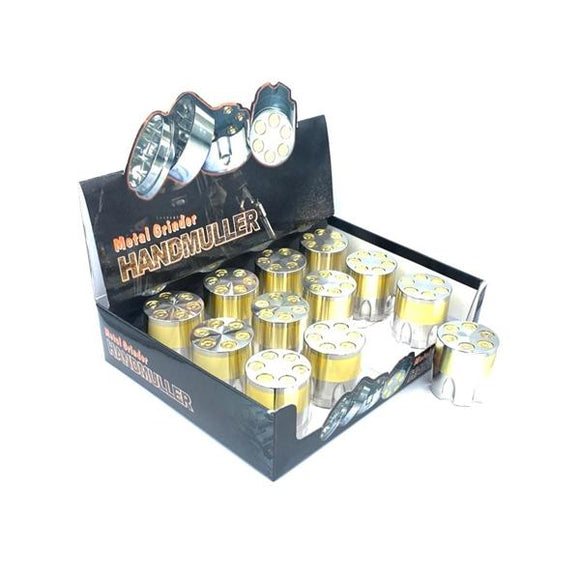 12 x 3 Parts Handmuller Silver Gold Bullet Metal 40mm Grinder - HX240G