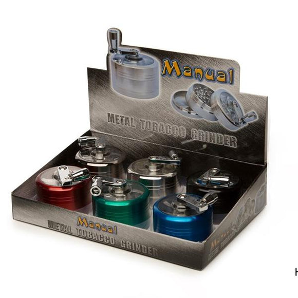 4 Parts Manual Metal Mix Colour Grinder - CBD VAPE 1