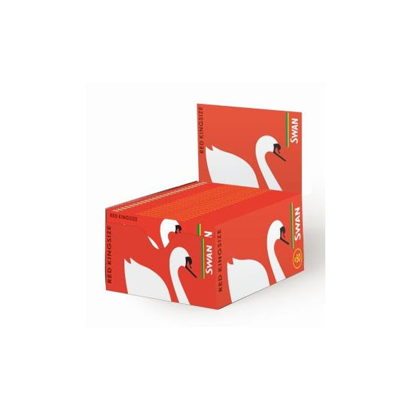 50 Swan Red King Size Rolling Papers - CBD VAPE 1