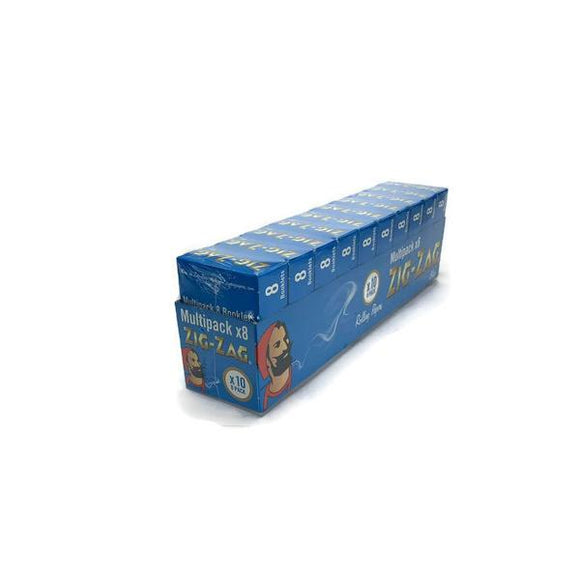 10 Pack x 8 Booklet Zig-Zag Blue Regular Rolling Papers - CBD VAPE 1