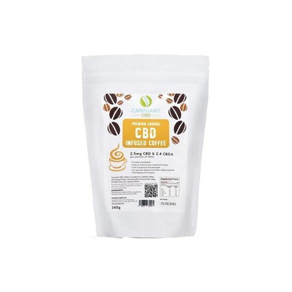 Canniant 120mg CBD Ground Coffee 340g - CBD VAPE 1