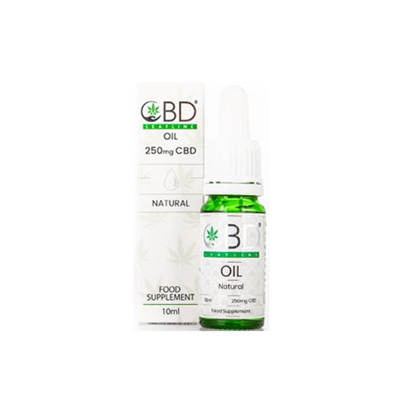 CBD Leafline 250mg CBD Food Supplement Oil 10ml - CBD VAPE 1