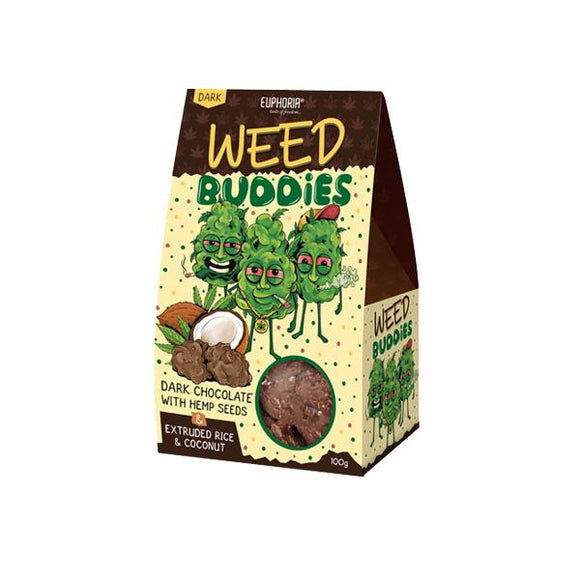 Euphoria Weed Buddies Dark Chocolate With Hemp Seeds