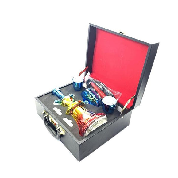 Portable Glass Hookah In Suitcase - SY58 - CBD VAPE 1