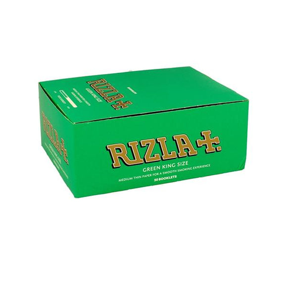 50 Green King Size Rizla Rolling Papers - CBD VAPE 1