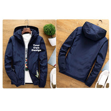 Load image into Gallery viewer, 2019 S-6XL Your OWN Design Brand Logo/Picture White Custom Men and women jackets Plus Size Jacket Men Clothing Outdoor SA-8