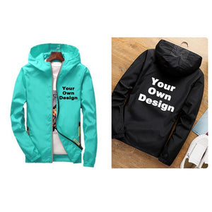 2019 S-6XL Your OWN Design Brand Logo/Picture White Custom Men and women jackets Plus Size Jacket Men Clothing Outdoor SA-8