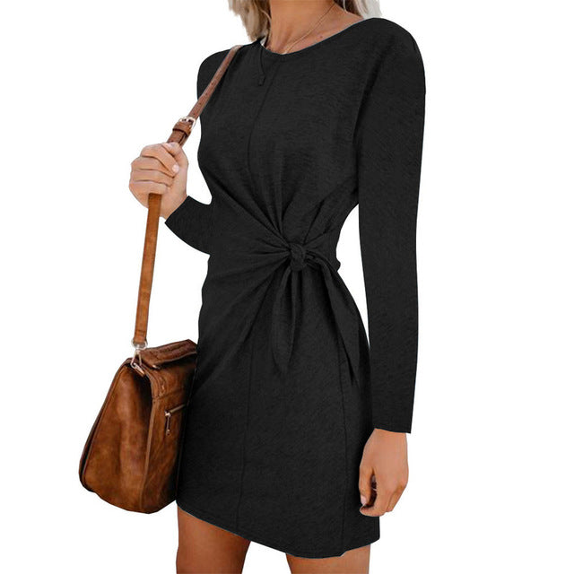 vestido long sleeve dress casual autumn robe courte vestidos  mujer fall kleider damen festa curto dames jurken sukienki clothes