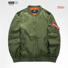 Load image into Gallery viewer, 2019 High quality Ma1 Thick and thin Army Green Military motorcycle Ma-1 aviator pilot Air men bomber jacket