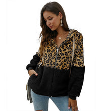 Load image into Gallery viewer, BEFORW 2019 Fashion Leopard Corduroy Jacket Coat Women Vintage Zipper Hooded Long Sleeve Winter Thick Jackets Streetwear Coats