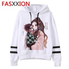 Load image into Gallery viewer, Demon Slayer cartoon men/women Hoodies Anime Unisex harajuku aesthetic 90s Sweatshirt ulzzang Graphic Casual male hood