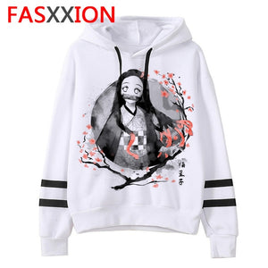 Demon Slayer cartoon men/women Hoodies Anime Unisex harajuku aesthetic 90s Sweatshirt ulzzang Graphic Casual male hood
