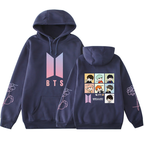 Bulletproof Boys BTS Celebrity Style Related Products Hoodie DIY Doll Adorable Korean-style Casual Slim Fit Long-sleeved Coat