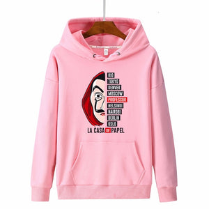 New hoodies Men la casa de papel Autumn Harajuku Hip Hop joker Money Heist TV Printed sweatshirt Fashion Male sudadera hombre
