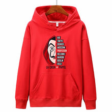 Load image into Gallery viewer, New hoodies Men la casa de papel Autumn Harajuku Hip Hop joker Money Heist TV Printed sweatshirt Fashion Male sudadera hombre
