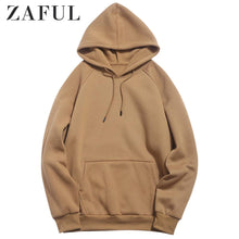 Load image into Gallery viewer, ZAFUL Basic Solid Pouch Pocket Fleece Hoodie 2019 New Autumn Winter Warm Tops Full Sleeves Casual Pullover Sweatshirts For Men