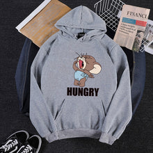 Load image into Gallery viewer, 2019 Autumn Winter new Kawaii mouse print teen hoodies Anime tom cat and jerry mouse funny clothes Harajuku Cartoon sweatshirt