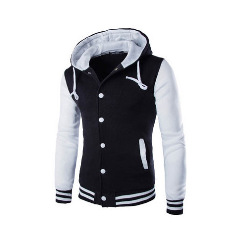 Mens Hoodie Baseball Jacket Men 2018 Fashion Design Black Mens Slim Fit Varsity Jacket Brand Stylish College Jacekt Veste Homme