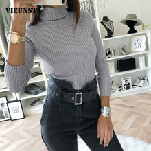 Load image into Gallery viewer, VIEUNSTA 2018 Fashion Turtleneck Knit Ribbed Bodysuit Women Autumn Winter Long Sleeve Warm Jumpsuits Female Rompers Casual Tops