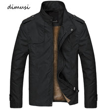 Load image into Gallery viewer, DIMUSI Winter Mens Bomber Jacket Male Casual Solid Slim Fit Business Jacket Men Fleece Thick Warm Windbreaker Jackets 4XL,TA249