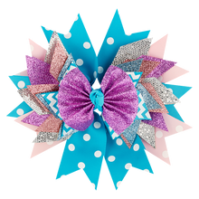 Load image into Gallery viewer, Blue/Purple Bow