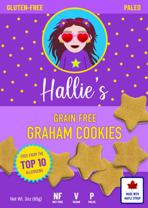 Grain Free Graham Cookies - Paleo - Top 10 Allergen Free - 3oz Bag