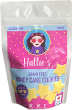 Load image into Gallery viewer, Grain Free Honey Cake Cookies - Paleo - Top 10 Allergen Free  - School Safe - 3oz Bag