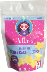 Grain Free Honey Cake Cookies - Paleo - Top 10 Allergen Free  - School Safe - 3oz Bag
