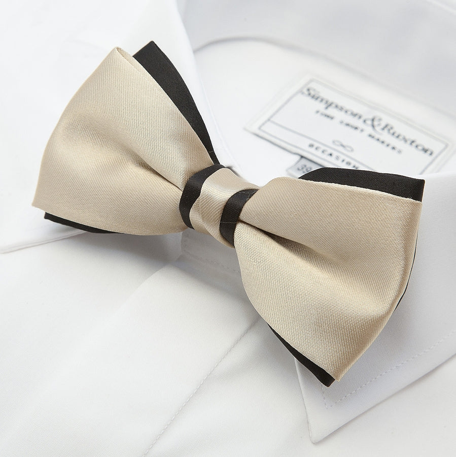 Two Tone Bow Tie in Gold and Black