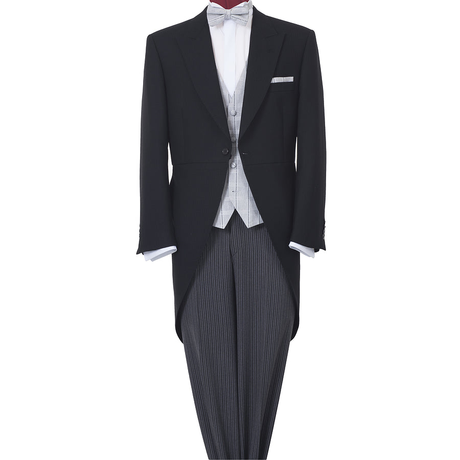 Cheltenham Black Morning Tail Suit for Men