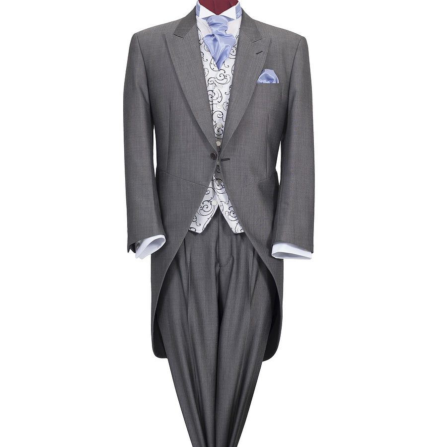 Christchurch Silver Grey Morning Tail Suit for Men