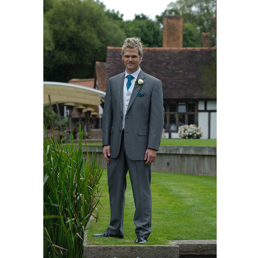 Christchurch Silver Grey Wedding Suit for Men