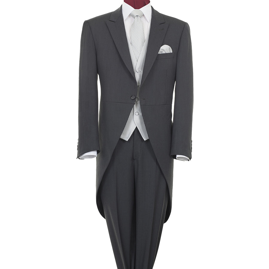 Kempton Grey Morning Tail Suit for Men