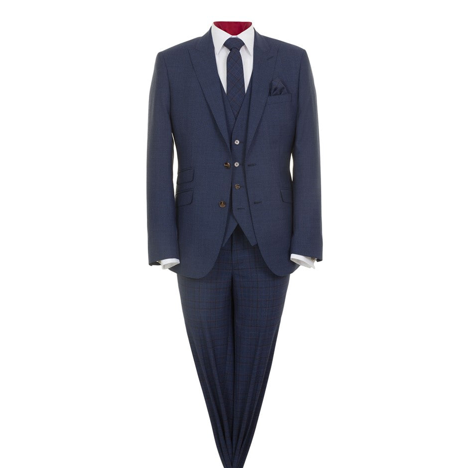 Wear Wedding Suit for Boys in Blue Check