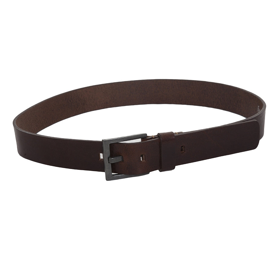 Leather Grain Belt in Brown