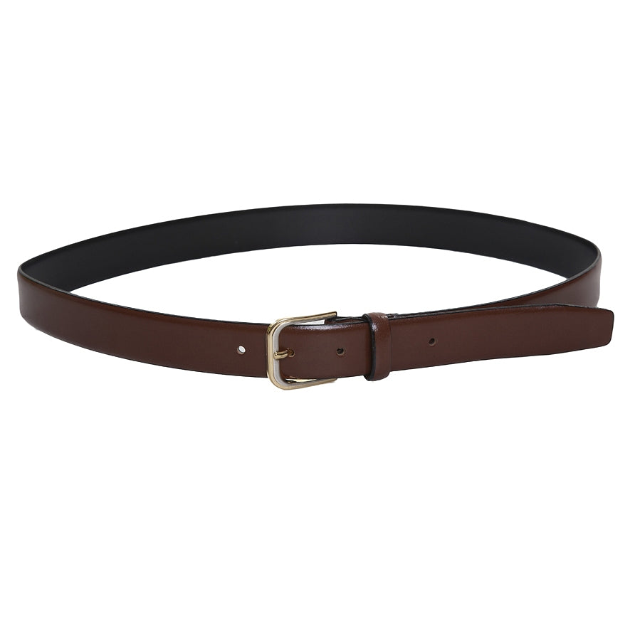 Feather Edge Leather Belt in Brown