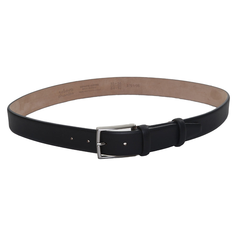Leather Belt in Black Calfskin