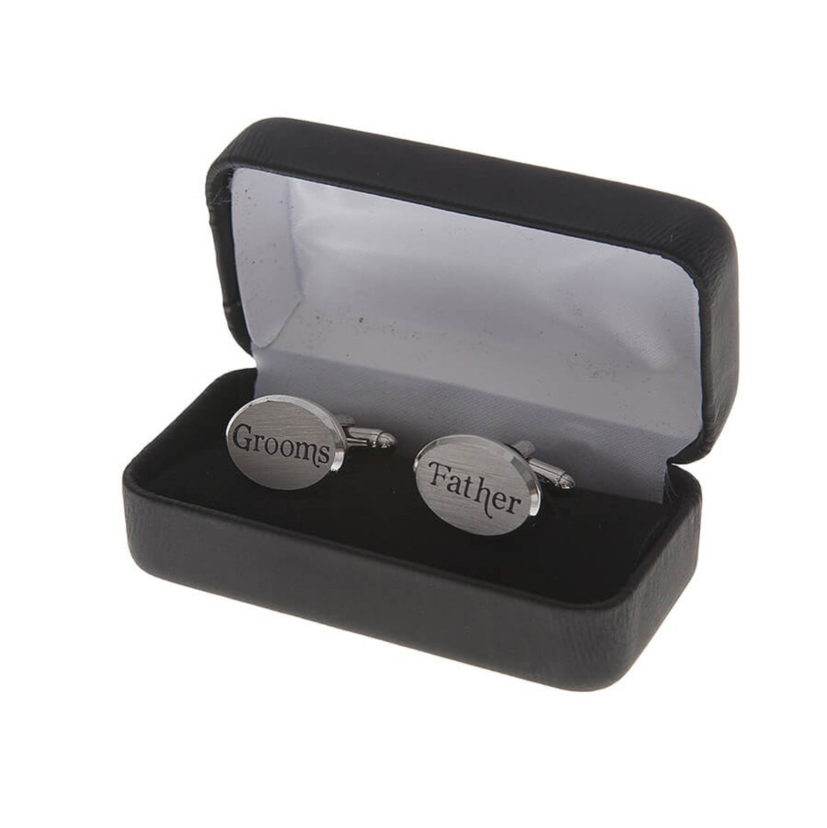 Grooms Father Silver Cufflinks