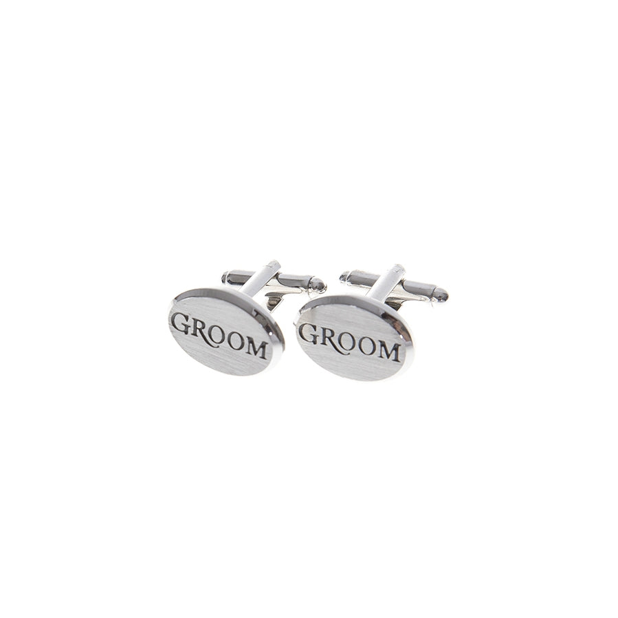 Groom Silver Cufflinks