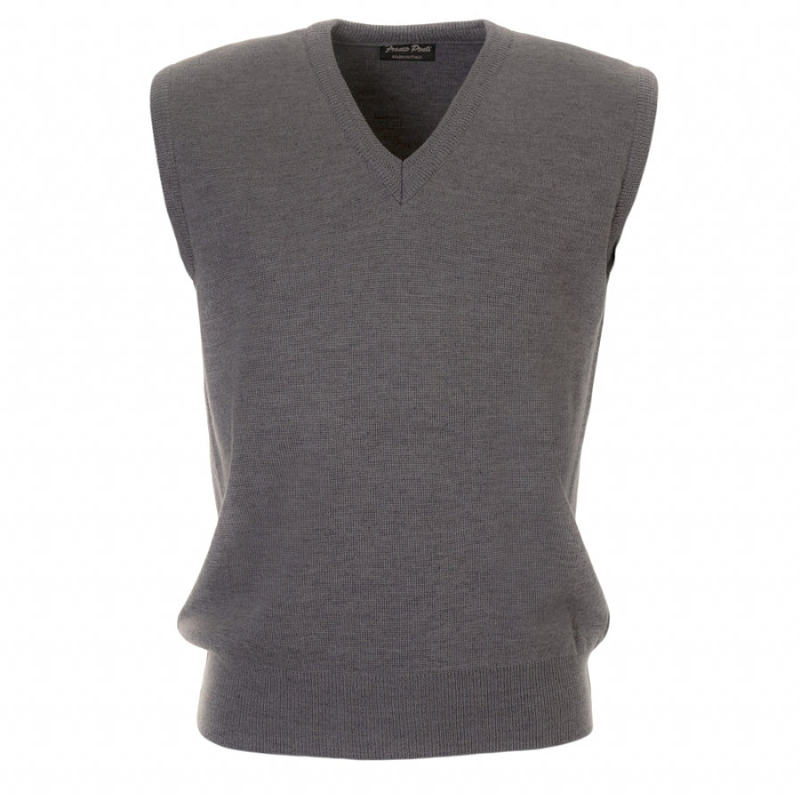 V Neck Slipover in Grey