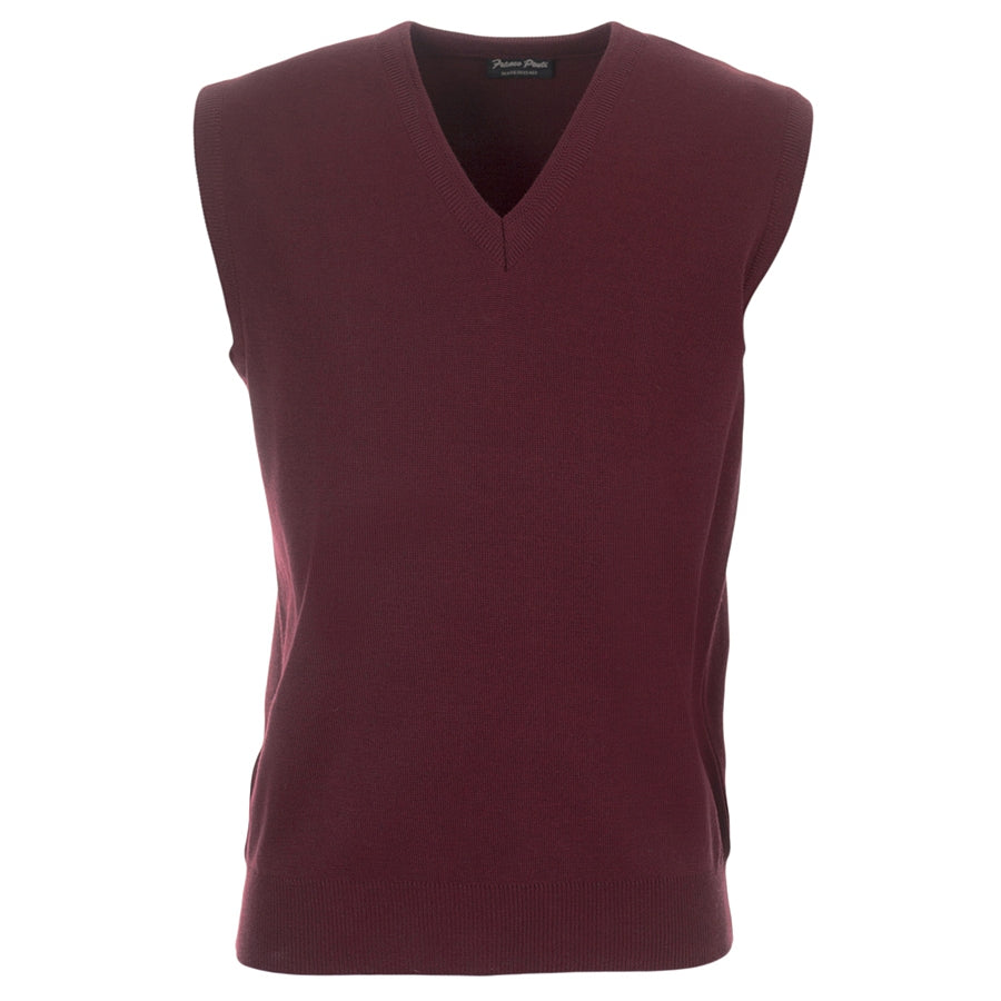 V Neck Slipover in Wine