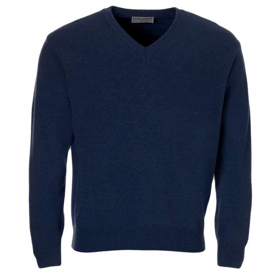Lambswool V-Neck Sweater in Royal