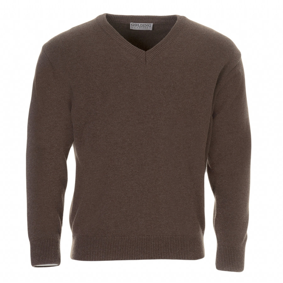 V-Neck Pullover for Men in Brown
