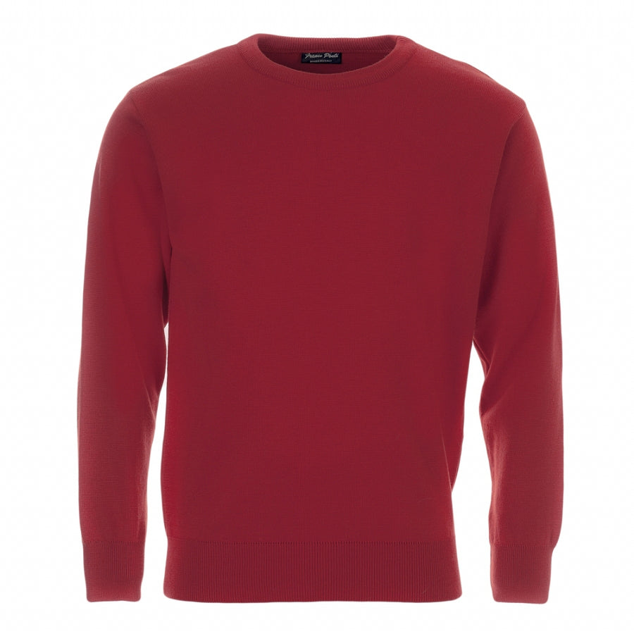 Crew Neck Pullover in Red