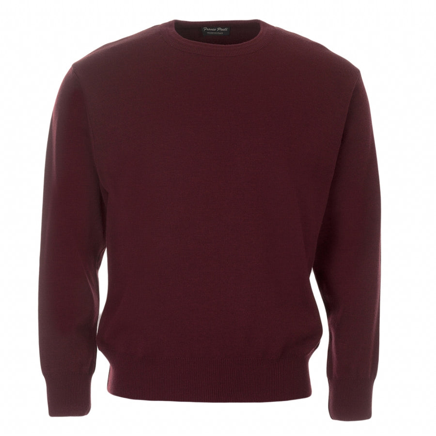 Crew Neck Pullover in Wine