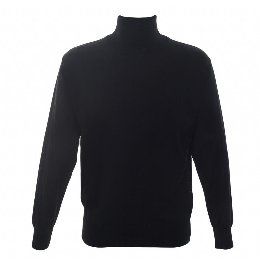 Rollcollar Pullover in Black